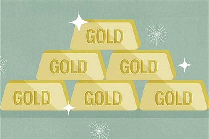 قیمت طلا بیش از ۱۰ دلار کاهش یافت