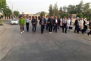 همایش پیاده روی صبحگاهی به مناسبت بزرگداشت هفته مقام معلم