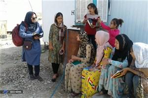 تدریس زلزلهزدگان با زبان مهربانی توسط دانشجویان همدانی