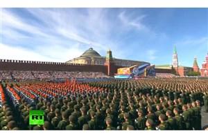 جشن پیروزی در میدان سرخ مسکو آغاز شد