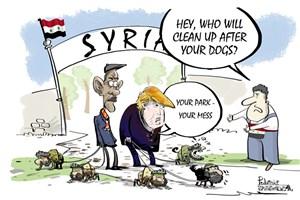 بی مسئولیتی آمریکا در قبال خرابکاری هایش در سوریه
