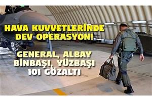 101 افسر نیروی هوایی ترکیه بازداشت می شوند