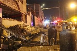 ساختمان 3 طبقه  با انفجار گاز کاملا تخریب شد+عکس