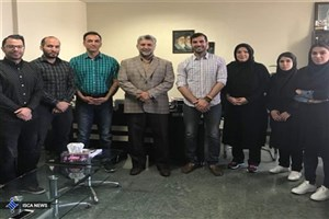 دیدار نمایندگان فدراسیون اسکواش با دکتر جوانمرد