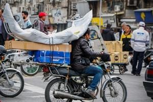 موتورسیکلتهای حمل بار و کالا در تهران ساماندهی می شود