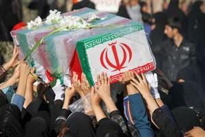 تشییع پیکر شهید در ساری