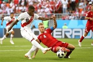 تساوی پرو و دانمارک در نیمه اول
