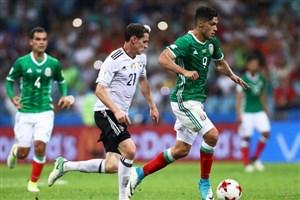 پیروزی یک نیمه ای مکزیک مقابل آلمان