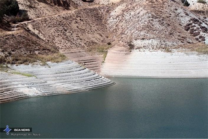 کمبود آب در سد لتیان