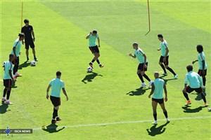 تمرین پرتغالی ها در کمپ اختصاصی پیش از دیدار با مراکش