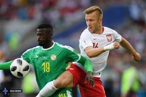پیروزی یک نیمه ای سنگال مقابل لهستان
