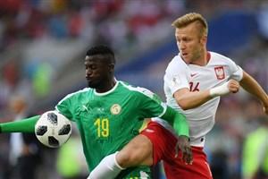 نیانگ بهترین بازیکن دیدار سنگال و لهستان شد