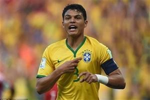 سیلوا، کاپیتان برزیل در بازی با کاستاریکا