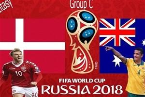 اعلام ترکیب تیمهای دانمارک و استرالیا