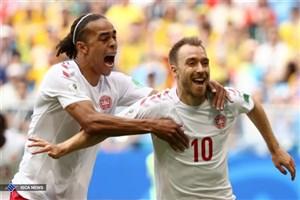 توقف یک نیمه ای دانمارک مقابل استرالیا