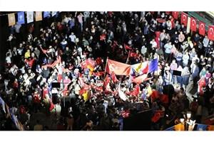 جشن پیروزی اردوغان در کشورهای مختلف