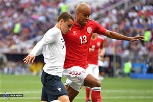 زور فرانسه در نیمه اول به دانمارک نرسید
