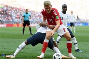 دانمارک صفر - فرانسه صفر/ صعود بیدردسر در اولین بازی بدون گل جام