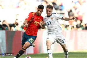 جدال میزبان و اسپانیا در 90 دقیقه، برنده نداشت