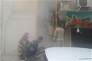 مهار آتش سوزی پست برق در دولت آباد