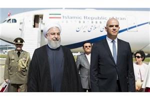 دیدار روحانی با رئیس جمهوری سوئیس