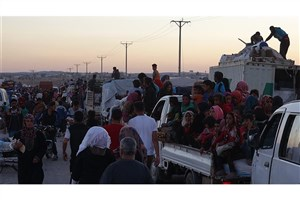 کوچ 27 هزار آواره از درعا به مناطق مرزی