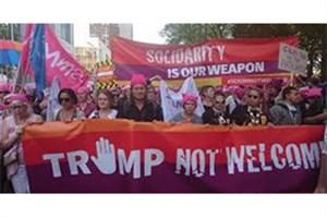 تظاهرات علیه ترامپ در بروکسل