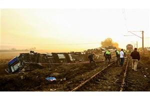 خروج قطار از ریل در استان تکیرداغ ترکیه