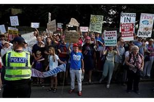 لندن صحنه تظاهرات ضد ترامپ