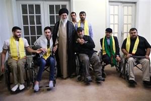 جمعی از جانبازان حزبالله لبنان با رهبر معظّم انقلاب دیدار کردند