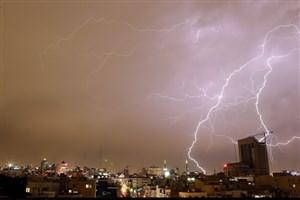 بارش باران، رگبار و رعد و برق در برخی از مناطق کشور