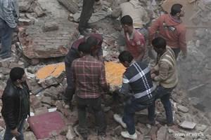 ساختمان ۶ طبقه در هند فرو ریخت