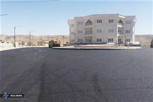 اتمام آسفالت بولوار دانشجوی دانشگاه آزاد اسلامی اوز