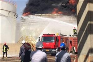 انفجار مهیب مخزن نفت در شهرک صنعتی خمین/ دو کشته و چند مصدوم