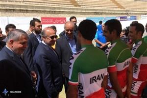 بازدید صالحی امیری و سلطانیفر از اردوی تیم ملی دوچرخه سواری