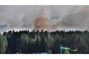 بمباران مناطق گرفتار آتش سوزی در سوئد
