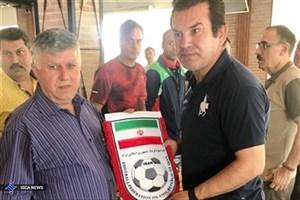 دیدار مدیر تیم امید ایران با رییس فدراسیون فوتبال عراق