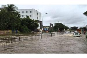 کشته شدن ۶۰۰ تن و  بی خانمان شدن میلیون ها نفر در سیلابهای اخیر هند