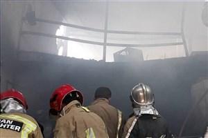 آتشسوزی در کارگاه تولید محصولات چوبی در خاوران
