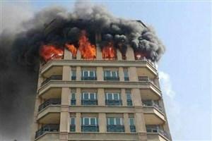 آتش سوزی مرگبار در ساختمان مسکونی/مرگ مرد 39 ساله