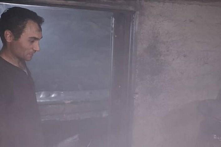 آتش سوزی در کارگاه تراشکاری