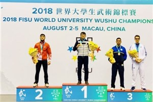Qorveh IAU Student Snatches Gold at 2018 Wushu Championship