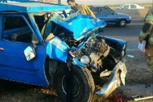 مرگ راننده نیسان درتصادف  اتوبان تهران ـ ساوه