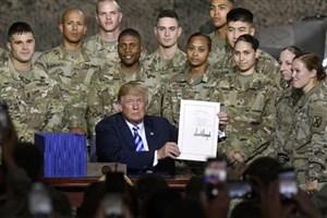 امضای بودجه جنایت توسط ترامپ