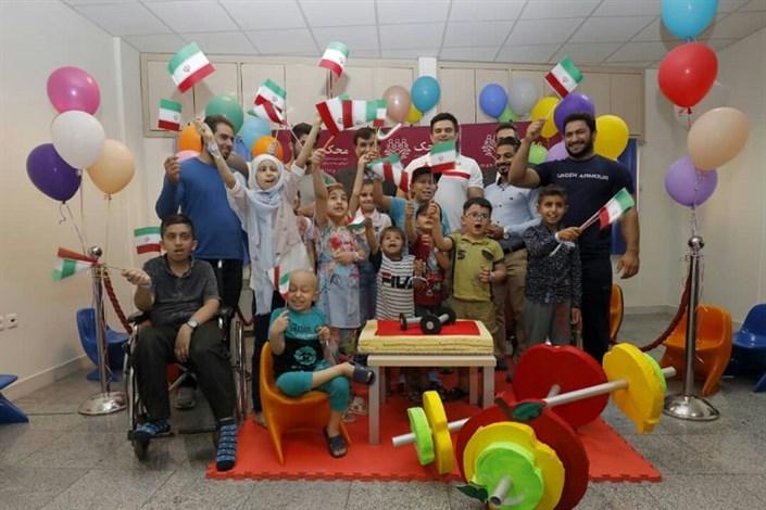 تمرین تیم ملی  وزنه برداری  با کودکان محک