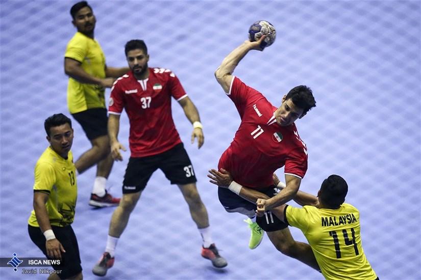 دیدار تیمهای ملی هندبال ایران و مالزی - مسابقات آسیایی 2018