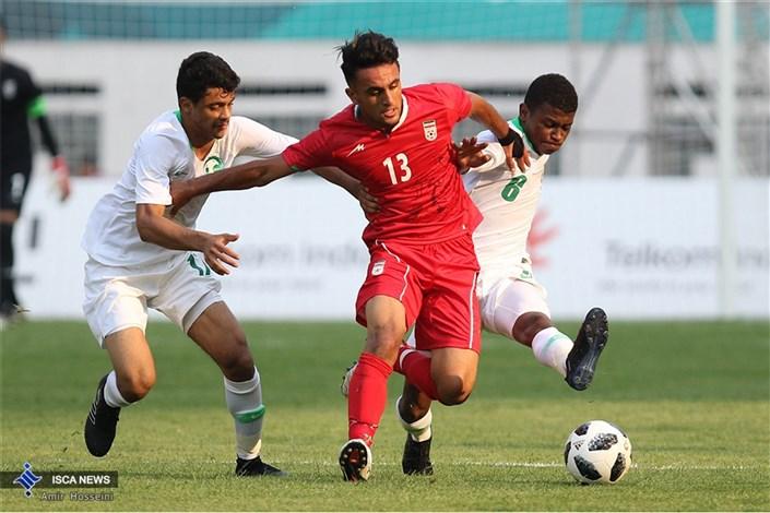 دیدار تیم های فوتبال ایران و عربستان - مسابقات آسیایی 2018