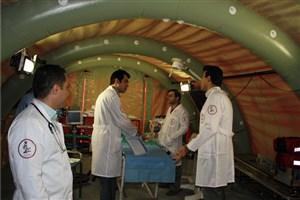 شروع  به کار بیمارستان صحرایی هلال احمر در عرفات و منا