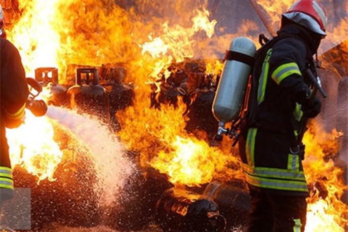 انفجار در کارگاه شارژ گاز مایع قم