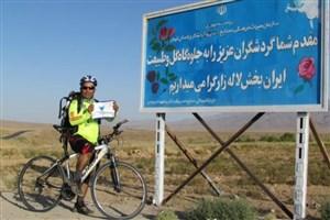 آفرود دوچرخه کوهستان توسط یکی از کارکنان واحد بندرعباس